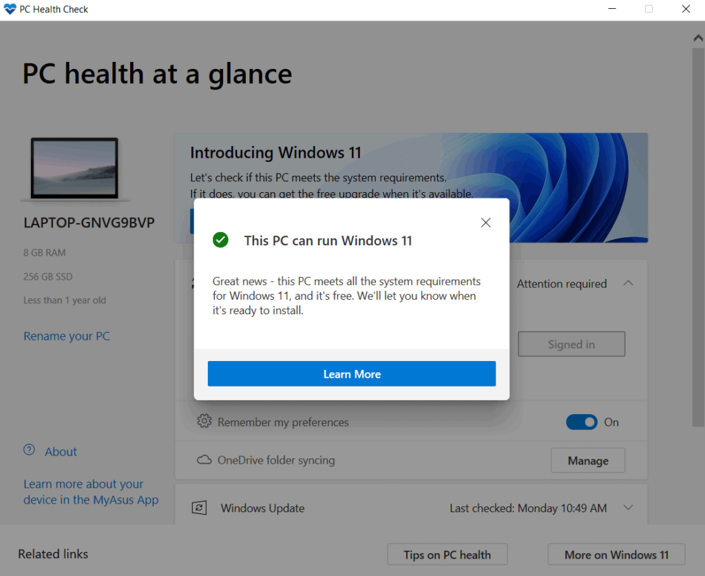 Install Windows 11 for free on Laptop